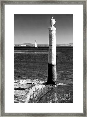 Tagus River View Framed Print by John Rizzuto