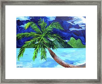 Tahiti Beach Framed Print by Beth Cooper