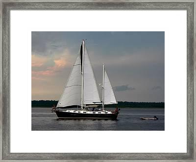 Tahiti Under Sail Framed Print