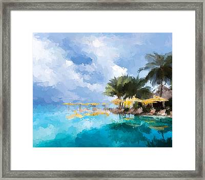 Tahittian Paradise Framed Print