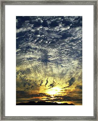 Framed Print featuring the photograph Taho Sunset_1 by Karni Dorell