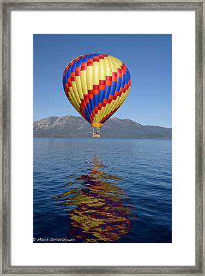 Framed Print featuring the photograph Tahoe Balloon. by Mitch Shindelbower