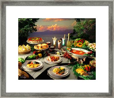 Tahoe Buffet Framed Print by Vance Fox