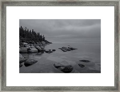 Tahoe In Black And White Framed Print