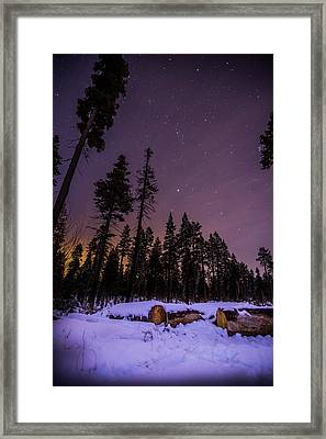 Tahoe Mountain - New Year's Eve Framed Print by Karl Alexander