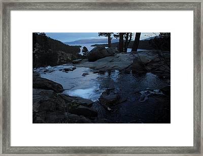 Tahoe Twilight Framed Print by Donna Blackhall