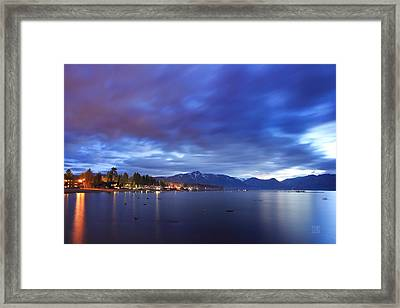 Tahoe Twilight Framed Print