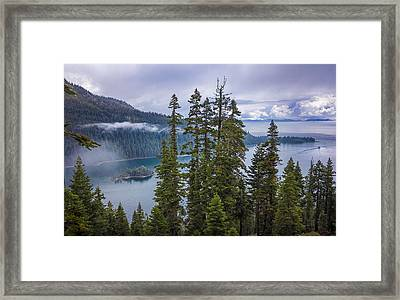 Emerald Bay With Steamboat Framed Print