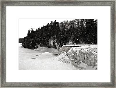Tahquamen Falls 5 Framed Print by Michael Peychich