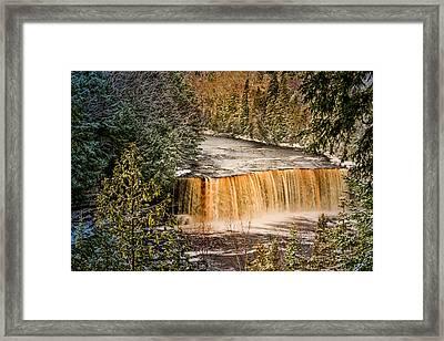Tahquamenon Winter Falls  Framed Print