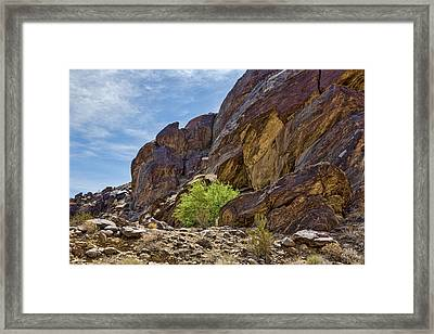 Tahquitz Canyon Rocks Framed Print by Kelley King