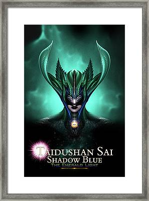 Taidushan Sai Shadow Blue The Emerald Light Framed Print
