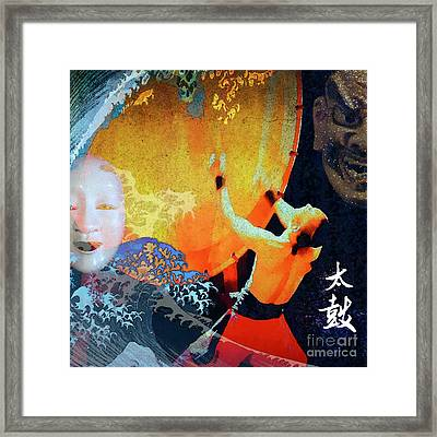 Taiko Drumming Framed Print by Stacey Chiew