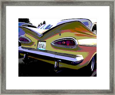 Tail Fins Framed Print by Audrey Venute