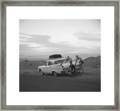 Tail Fins Framed Print