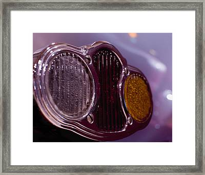 Tail Lights Framed Print