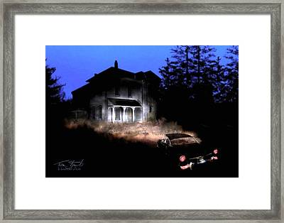 Tail Lights Framed Print by Tom Straub