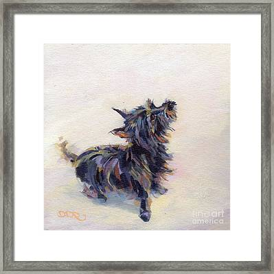 Tail Wagging Fury Framed Print by Kimberly Santini