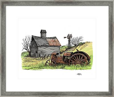 Tailend Of Hard Tmes Framed Print by Dave Olson
