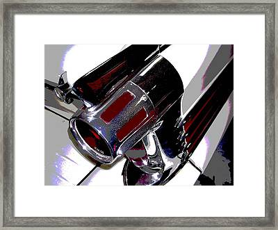Taillight Framed Print by Audrey Venute