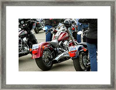 Taillights And Jeans Framed Print