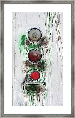 Taillights On A Very Old Bus Framed Print