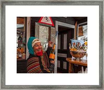Taimi In Zermatt Switzerland Framed Print by Brenda Jacobs