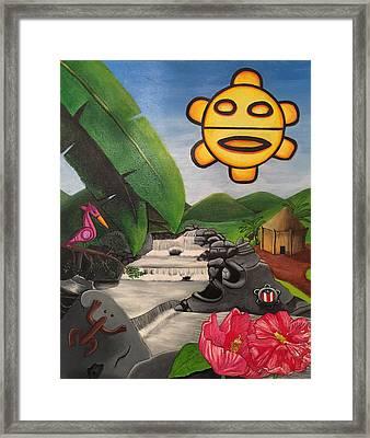 Taino Symbology Framed Print by David Galarza