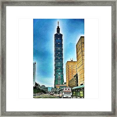 Taipei 101 (chinese: 台北101 / Framed Print by Tommy Tjahjono