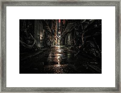 Taipei After Dark Framed Print