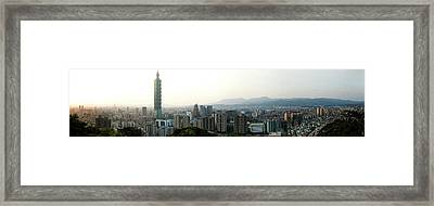 Taipei In Panorama Framed Print