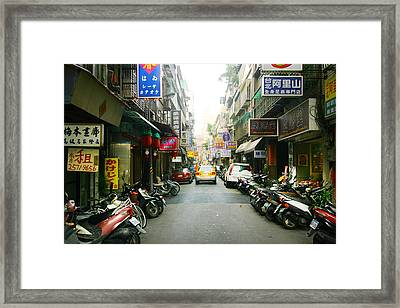 Taiwan Street Framed Print by Isabel Poulin