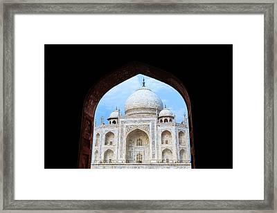 Taj Archway Framed Print by Nila Newsom