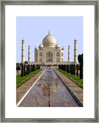 The Taj Mahal - Grand Canyon Mash-up Framed Print