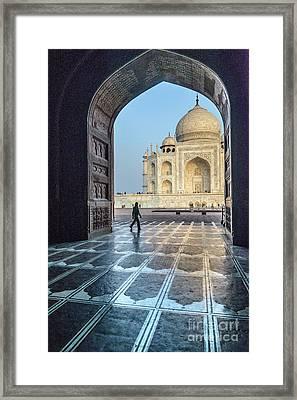 Taj Mahal 01 Framed Print