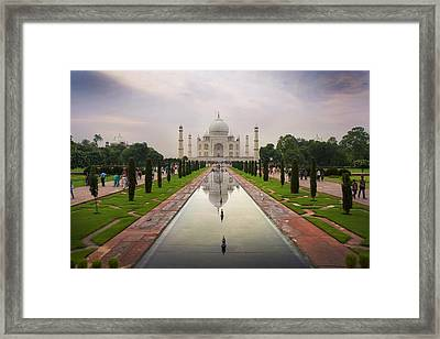 Taj Mahal At Sundown Framed Print