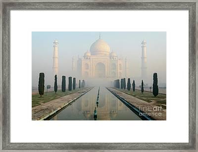Taj Mahal At Sunrise 02 Framed Print