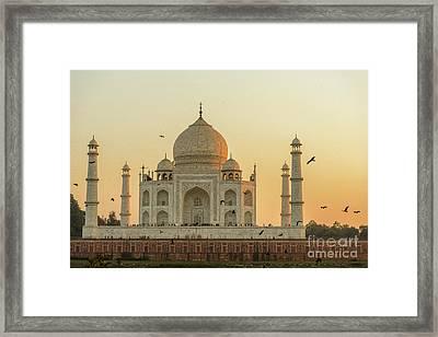 Taj Mahal At Sunset 01 Framed Print