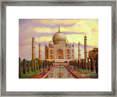 Taj Mahal Framed Print by Dominique Amendola