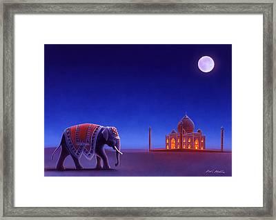 Taj Mahal Elephant Framed Print