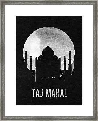Taj Mahal Landmark Black Framed Print