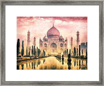 Taj Mahal Framed Print by Mo T