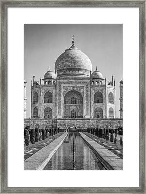 Taj Mahal Monochrome Framed Print