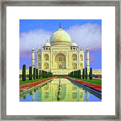 Taj Mahal Morning Framed Print by Dominic Piperata