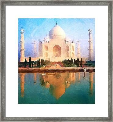 Taj Mahal Reflection Framed Print by Dan Sproul