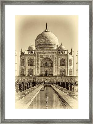 Taj Mahal Sepia Framed Print