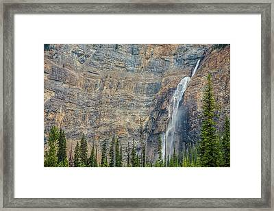 Framed Print featuring the photograph Takakkaw Falls 2009 by Jim Dollar