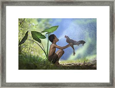 Take A Bath Framed Print by Andre Arment