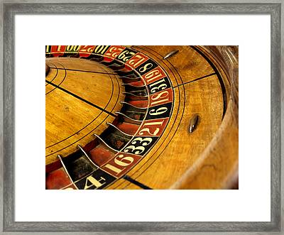 Take A Chance On Me Framed Print by Irma BACKELANT GALLERIES
