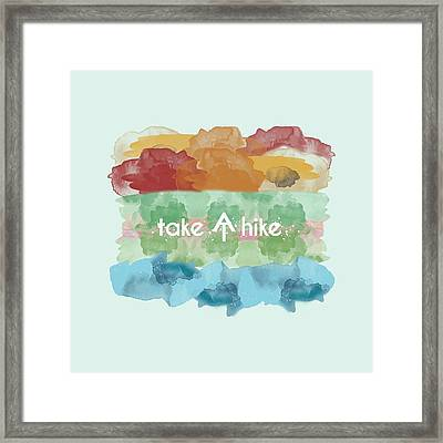 Take A Hike Appalachian Trail Framed Print